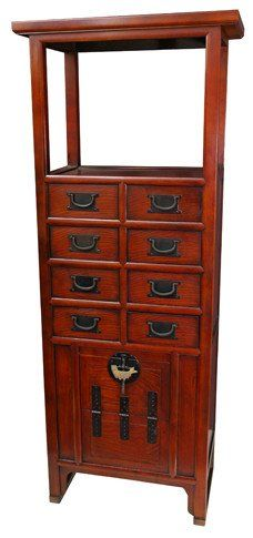 Attractive Oriental Furniture Asian Furniture And Home Decor 62 Inch Japanese Open Top  Tall Tansu Display