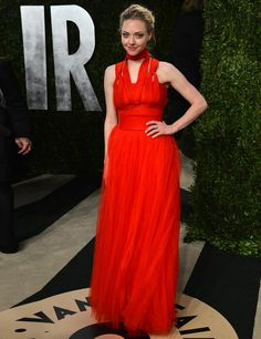 Amanda Seyfriend in Givenchy Haute Couture by Riccardo Tisci at the Vanity Fair Oscars Party Red Carpet 2013