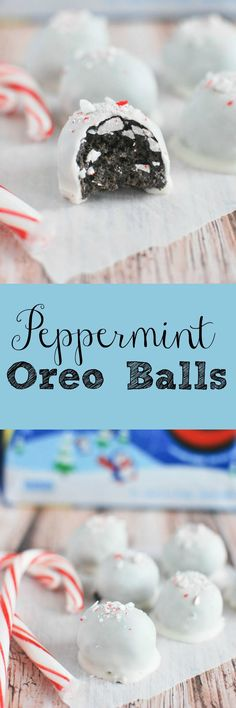 Peppermint Oreo Balls - your favorite oreo balls with a wintery twist!