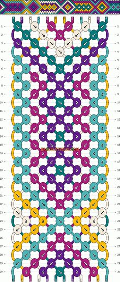 Tribal friendship bracelet pattern