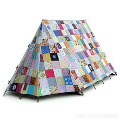 The Snug as a Bug Tent ($760) reminds us of an heirloom quilt slung over a clothesline. A rather charming effect, actually!