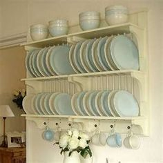 Wooden Plate Racks | ... wooden plate rack wall shelf theorchardhomeandgifts com wooden plate