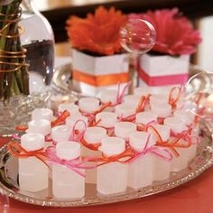 Bubbles are great for both a favor and a fun way to send the bride and groom off. You can also use bird seed, rice(that is disintegrates and wont hurt birds), sparklers, bells, confetti, or flower petals.