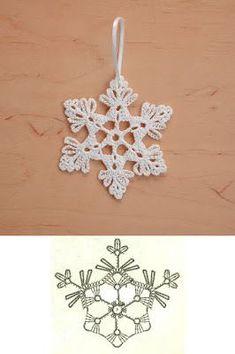 Wonderful DIY Crochet Snowflakes With Pattern WonderfulDIY com - Salvabrani Crochet Snowflake Pattern, Crochet Stars, Christmas Crochet Patterns, Crochet Snowflakes, Doily Patterns, Thread Crochet, Crochet Motif, Diy Crochet, Crochet Crafts