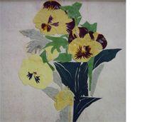 パンジー Paper Cutting, Paper Flowers, Painting, Board, Painting Art, Paintings, Painted Canvas, Drawings, Planks