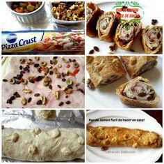 Receta del pan de jamón Venezolano fácil y delicioso. Es una receta sencilla sin tener que hacer la masa del pan en casa.