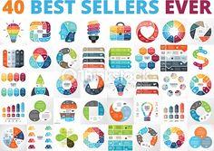 Vector Art : Best vector circle infographics set. Business diagrams, arrows graphs, startup