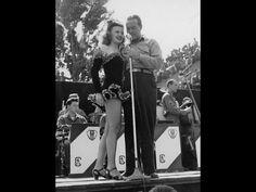 Bob Hope and Patty Thomas from the USO tour Fritzlar, Germany, July 1945