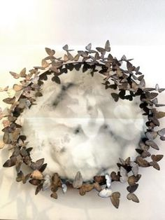 Iron Butterfly Sculpture Mirror In Antiqued Gold/Bronze Finish Other Sizes/ Finishes Available Available At