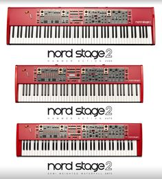 NORD STAGE 2 electric piano and electric organ virtualization! Introducing our new flagship, the Nord Stage 2 with Nord Sample Library-compatibility, the B3 and transistor organ engine from the C2, MIDI over USB and more memory for your favorite sounds. All in an amazingly user friendly interface where all vital functions are only button away!