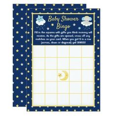 Cute Boy Blue and Gray Elephant Baby Shower Bingo Invitation Baby Shower Party Games, Baby Shower Bingo, Baby Shower Invitations For Boys, Baby Girl Elephant, Grey Elephant, Pink Grey, Gray, Elephant Shower, Couples Baby Showers