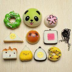 BangGood - Eachine1 10Pcs Random Squishy Soft Sushi/Panda/Bread/Cake/Buns Phone Straps - AdoreWe.com