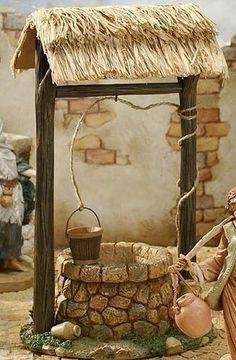 Town Well for Fontanini Christmas Nativity Collection - 32624305 Christmas Nativity Scene, Christmas Crafts, Christmas Decorations, Christmas Villages, Fontanini Nativity, Jardin Decor, Deco Nature, Fairy Garden Houses, Fairy Garden Accessories