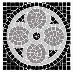 Corner/Tile No 1 stencil from The Stencil Library MOSAIC range. Buy stencils online. Stencil code ML15.
