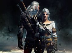 Geralt and Ciri - The Witcher 3 (2016 #IntothePixel Collection)