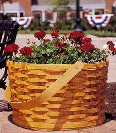 At The Homestead, street baskets add a splash of beautiful color.