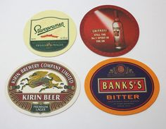 Rare Beer coaster Collection from Japan. Kirin Beer, Beer Coasters, Smirnoff, Brewery, Store, Ebay, Storage, Shop