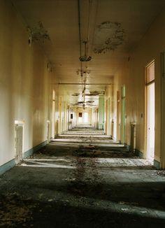 Asylum 13  Hallway, Ward 66, abandoned portion of J Building  Oregon State Hospital, Salem, OR