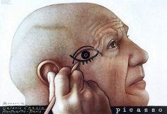 Gorowski, Mieczyslaw Hommage a Picasso Polish poster art