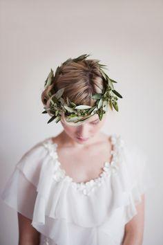 I heart crowns of all kinds;) olive branch wedding crown via Elizabeth Messina Laurel Wreath, Jim Morrison, Hair Studio, Floral Hair, Flowers In Hair, Hair Pieces, Headpiece, Headdress, Her Hair