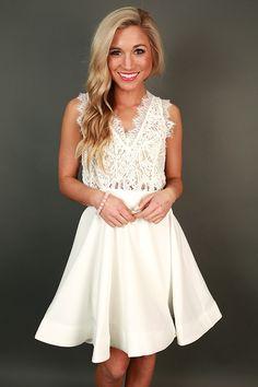 Love Me Like You Do V-Neck Dress in White