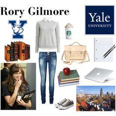 Rory Gilmore by parispinkmartini on Polyvore featuring VILA, Vero Moda, Converse, The Cambridge Satchel Company and Buccellati