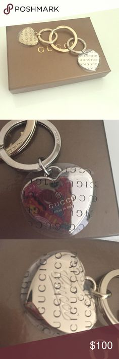306202d5e35 Brown Heart Key Ring. Gucci hearts metal keychain Brand new Gucci keychain.  Two hearts with Gucci logo. Made