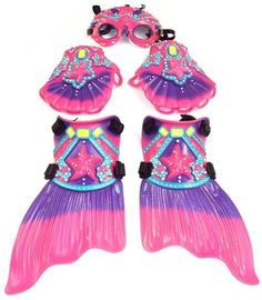 "Deluxe Mermaid Princess Swim Set with ""Jeweled"" Goggles, Gloves, & Fins, Pink and Purple Super Swimmer,http://www.amazon.com/dp/B00DBCTSVG/ref=cm_sw_r_pi_dp_emv8sb0YTYC7DG4Y"