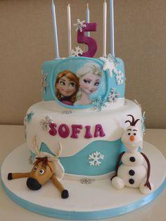 Bolo de Aniversário - Frozen