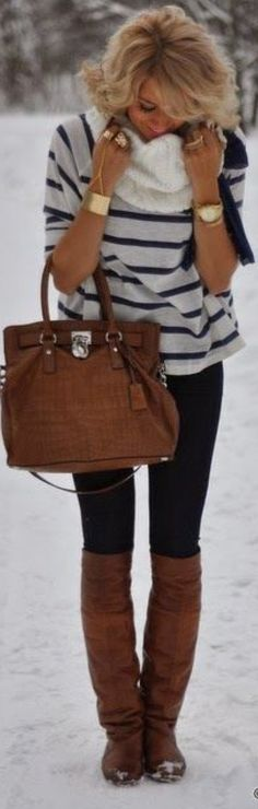 black skinny jeans and brown boots outfits - Google Search