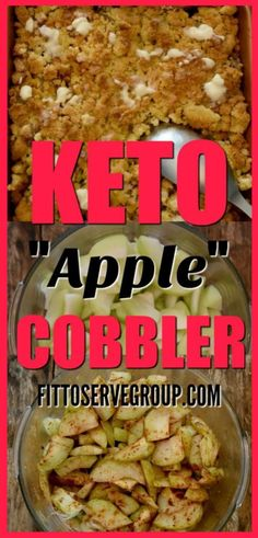 What if I told you that there was a way to enjoy the flavor of apples while doing a low carb keto diet? Well, my recipe for keto apple cobbler uses chayote squash as a fantastic apple substitute. It's not only delicious but it's keto-friendly. keto apple cobbler| keto apple crisp| low carb apple cobbler| keto mock apple recipe| low carb mock apple recipe