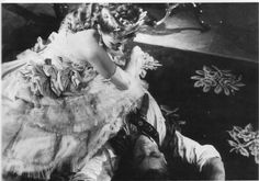 Edwige Feuillère and Jean Marais in L'Aigle a Deux Tetes directed by Jean Cocteau 1947