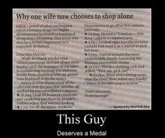 Why I shop alone...