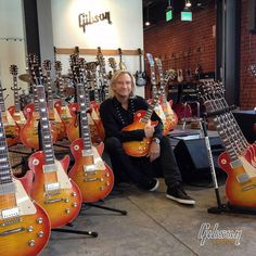 The great Joe Walsh in our Gibson Beverly Hills Showroom to sign the first 50 of his Signature 1960 Gibson Les Paul guitars.