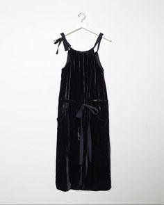 Phoebe English | Gathered Velvet Dress | La Garçonne
