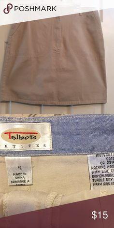 Talbots skirt Khaki skirt size 12. Pockets in front . Talbots Skirts Midi