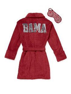 University of Alabama bathrobe and eye mask set