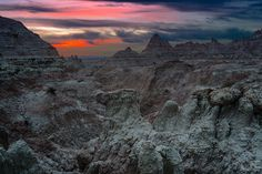 Jesse Attanasio captured the mood and other-worldly landscape of the Badlands in this week's winning fan photo. Nature Hd, South Dakota, Nature Pictures, Amazing Nature, Mother Nature, Monument Valley, Art Photography, Sunrise, Scenery