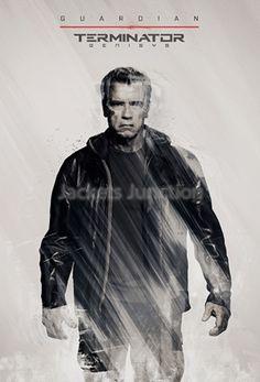 <strong>Specification:</strong> <ul> <li><b>Inspired from: Terminator Genisys.</b></li> <li><strong>Worn by:</strong> Arnold Schwarzenegger.</li> <li><strong>External:</strong> Genuine leather.</li> <li><strong>Internal:</strong> Viscose Lining.</li> <li><strong>Color:</strong> Black.</li> <li><strong>Neckline:</strong> Standup collar accompanied with Velcro snap button closing.</li> <li><strong>Front:</strong> Zipper closure inside snap button Flap.</li> <li><strong>Pockets...