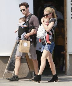 Couple Anna Paquin and Stephen Moyer take their twins Charlie and Poppy out for lunch in Venice, California on June 29, 2013. Description from zimbio.com. I searched for this on bing.com/images