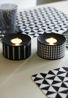Turn an ordinary space into something more contemporary with a monochromatic color palette and elegant geometric prints. These modern candle holders are the perfect addition to any room.