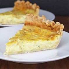 Cheese And Onion Quiche. I used just gruyere cheese rather then the mozzarella and cheddar. Breakfast Quiche, Breakfast Casserole, Breakfast Recipes, Great Recipes, Favorite Recipes, Snacks Sains, Stuffed Green Peppers, Recipe Collection, Clean Eating Snacks