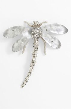 A pin on a sweater is so classic.  This one is a little fem and a little dark all at once.  Alexis Bittar Allegory Dragonfly Statement Pin | Nordstrom