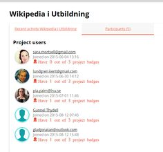 #Wikipedia i utbildningen http://www.badgecraft.eu/en/projects/95/users