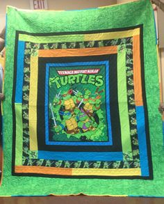 Teenage Mutant Ninja Turtles Quilt and Matching by DnDCreations16
