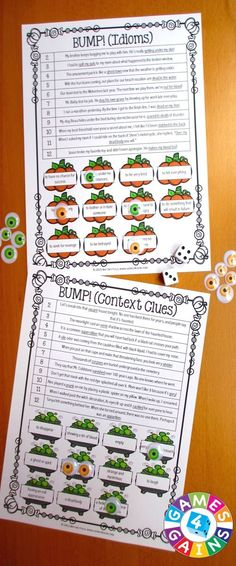 Halloween Games FREE contains 2 fun and engaging Halloween activities to help students to practice idioms and context clues. These games are so simple to use and require very minimal prep. They are perfect to use in literacy centers or as extension activities when students complete their work!