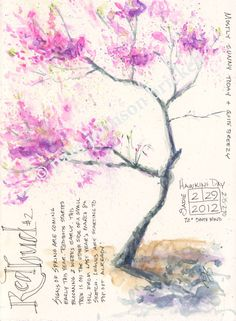 redbud - kept simple but quite effective  #journal #watercolor #nature