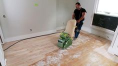 DIYNetwork.com explains how to sand a hardwood floor using three different types of sanders.