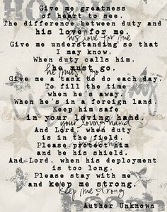 Military Prayer - Army quotes felt this way every time dad was gone