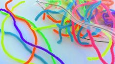 Pipe cleaners. Heather Hess: How to Create the Perfect Activity Box for Kids. A list of busy activities for toddlers in an organized way